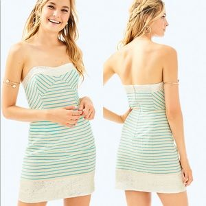 NWT Lily Pulitzer Remi Strapless Dress Striped 10